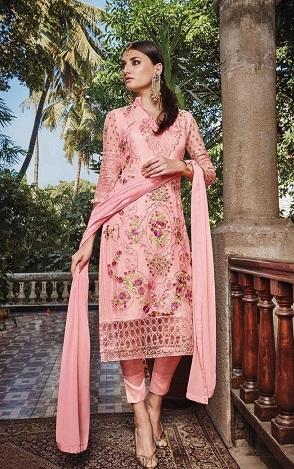 Pink Cigarette Salwar Suit