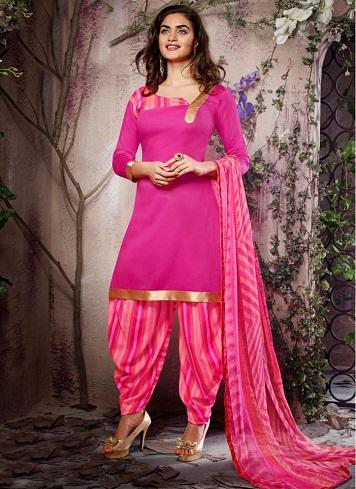 Pink Patiala Salwar Suit