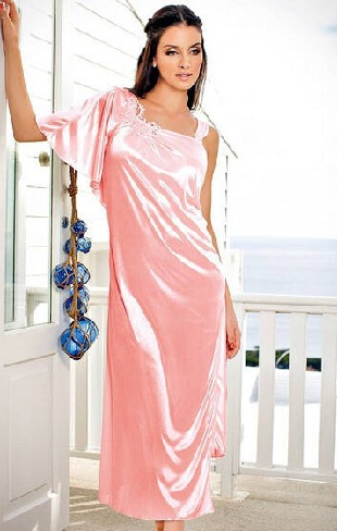 Pink Satin Nightdress