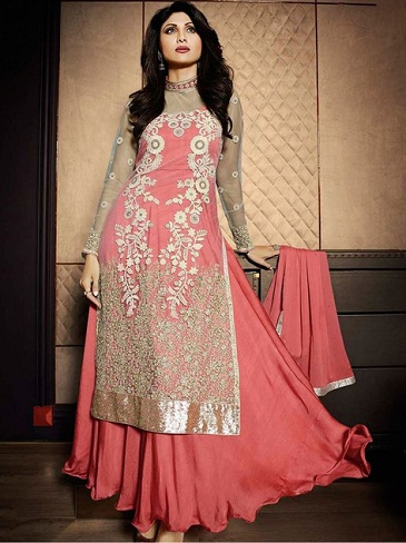 Pink Skirt Salwar Suit