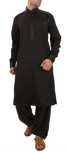 Plain Black Salwar Kameez
