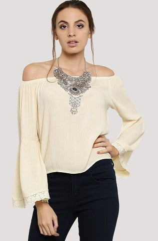 Plain Off shoulder Top