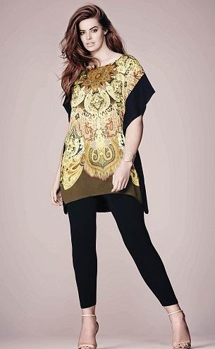 Plus Size Kaftan Style Salwar Kameez