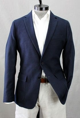 Polished Cotton Blazer