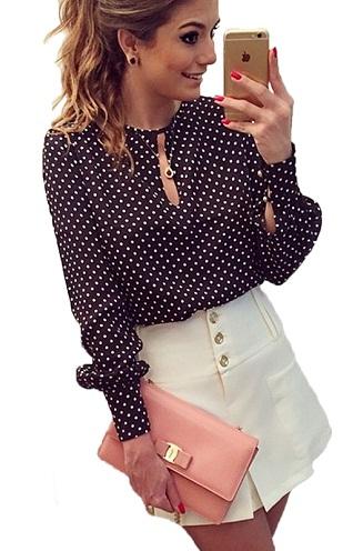 Polka Dot Full Sleeve Blouse
