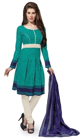 Polka Dots Cotton Salwar Kameez Suits
