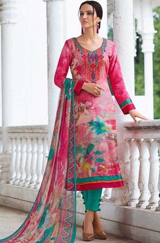 Printed Designer Salwar Suit Design