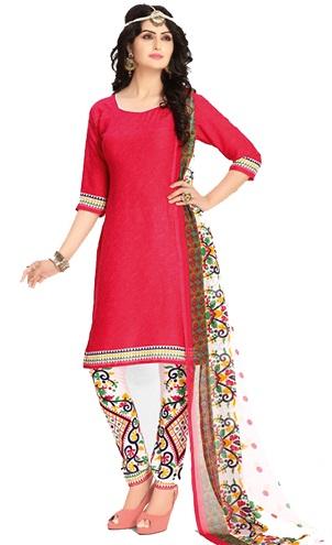 Printed Pant Style Salwar Suit