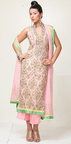 Pure Silk Jamavar Salwar Kameez Design