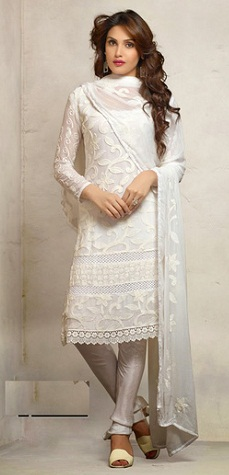 Pure White Cotton Salwar Suit Design