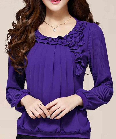 167916b56f3e01 9 Latest Models in Women's Purple Tops in Fashion