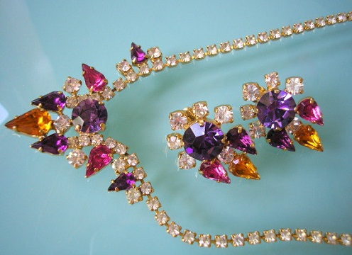 Purple colour necklace set -23
