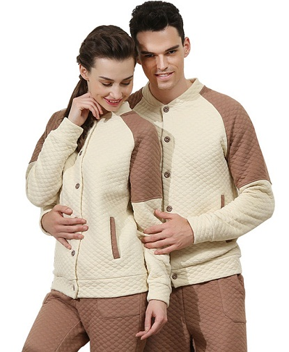 Quilted warm pair night suits