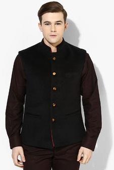 Raymond Black Solid Slim Fit Blazer