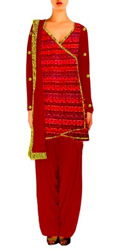 Red Angrakha Salwar Suit