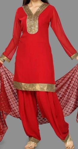 Red Punjabi Salwar Suits Design
