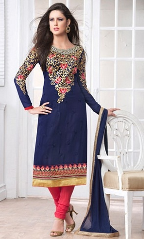 Royal blue Party wear Punjabi Salwar Suit