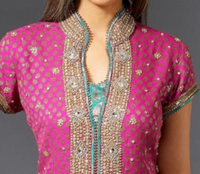 Salwar Suit with Collar Neck
