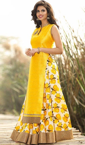Salwar Suit with Flower Print Salwar