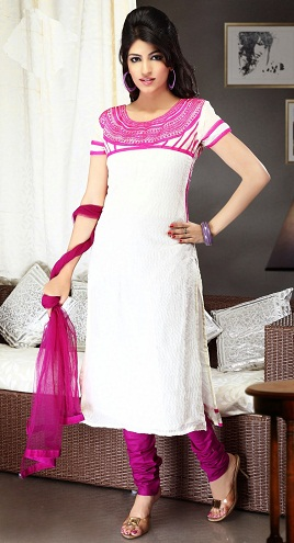 Salwar Suit with Neck Pattern