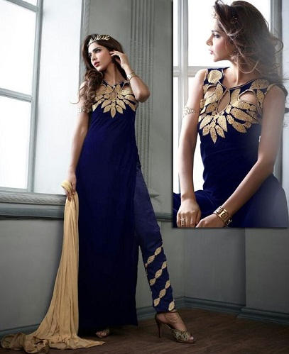 Salwar Suit with Pant Style