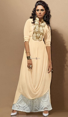 Salwar Suit with Pleated Style