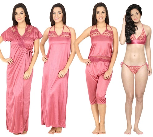 Secret Wish Women's Pink Nighty