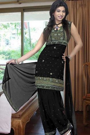 Sequined Black Salwar Suit
