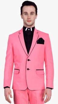 Shaftesbury London Pink Solid Blazer