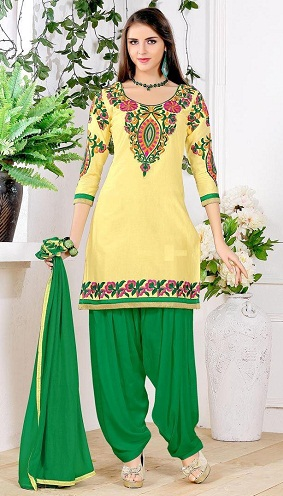 Short Kameez Printed Salwar Suit Design