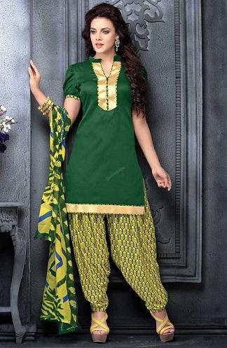 Short Sleeve Salwar Suit