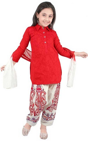 Short Top and Herumsalwar Suit for Kids