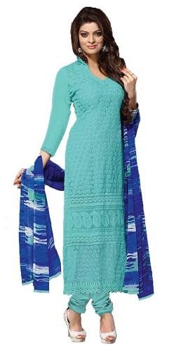 Simple Light Blue Salwar Suit Design