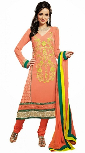 Simple Long Salwar Kameez Designs