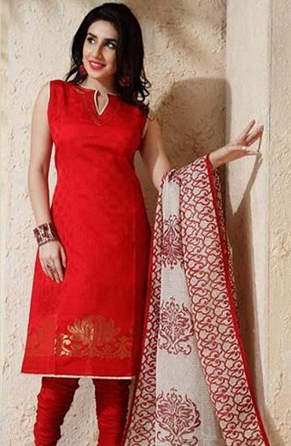 Simple Red Salwar Suit Design