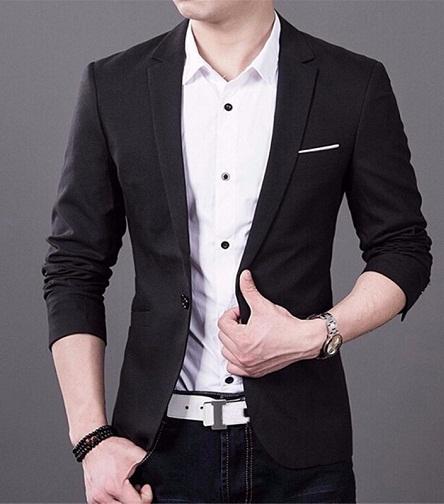 Simple black blazer
