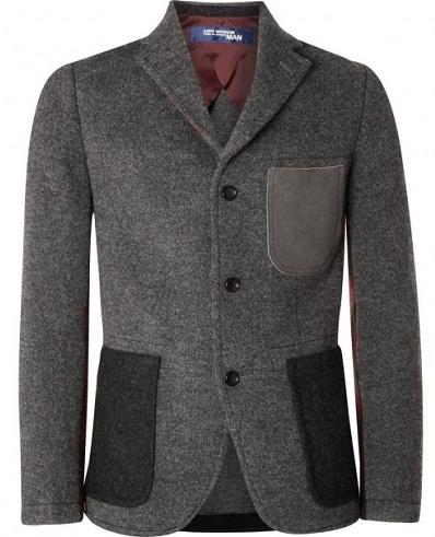 Simple woolen blazer