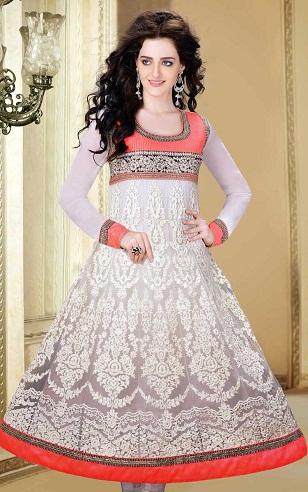 Sizzling White Net Designer Salwar Suit