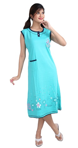 23427bd684ce4 15 Comfortable Women's Cotton Nighties with Different Designs