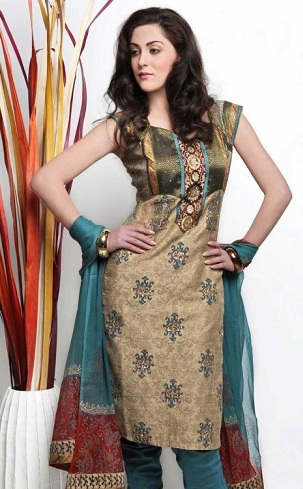 Sleeveless Cotton Salwar Suit Design
