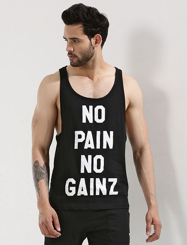 Slogan Printed Vest9