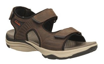 Sporty Leather Clarks Sandals for Men