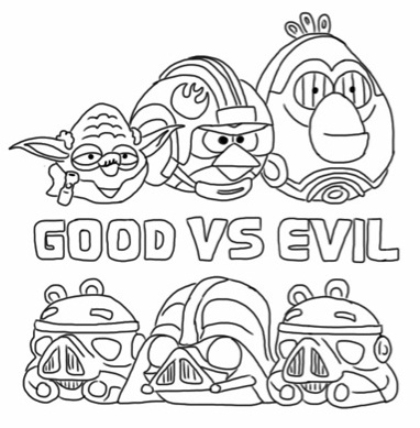 Star Wars Angry Bird Colouring Page