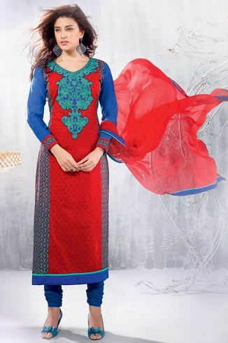 Straight Cut Salwar Kurti Design
