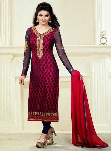 Straight Fit Long Salwar Suit Designs