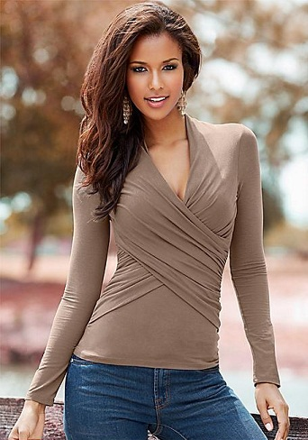 Stretchable Wrap Top