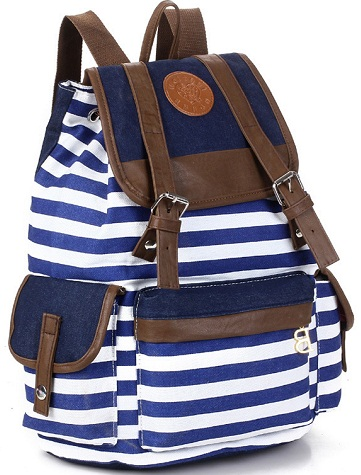 Stripped Pattern School Bags For Teenagers -21