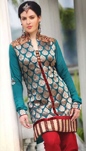 Stylish Silk Salwar Suit Design