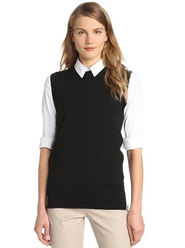 Sweater Black Fleece Vest for Ladies8