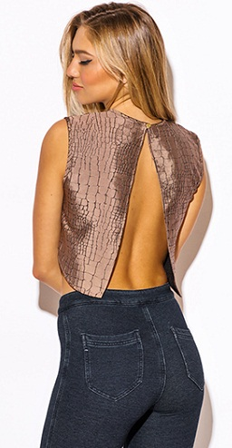 The Brown Backless Top
